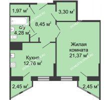 1 комнатная квартира 53,44 м² - ЖК Сергиевская Слобода