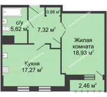 1 комнатная квартира 51,25 м² - ЖК Сергиевская Слобода