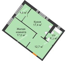 1 комнатная квартира 57,8 м² - ЖК Симфония Нижнего