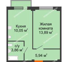 1 комнатная квартира 34,26 м² в ЖК Лайм, дом № 1