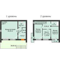 3 комнатный таунхаус 115 м² в Клубный посёлок Панорама, дом Гангутская, 7 (таунхаусы 115м2) - планировка