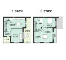4 комнатная квартира 158,6 м² в КП DolinaGreen (Долина Грин), дом Типа квадрохаус (158,6 м2) - планировка