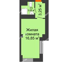 Студия 23,15 м², Апарт-Отель Гордеевка - планировка