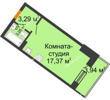 Студия 25,68 м² в ЖК Мандарин, дом 2 позиция 9,10 секция - планировка