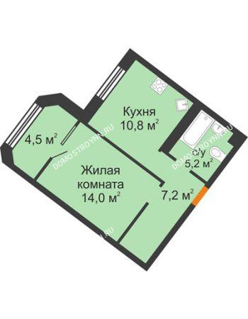 1 комнатная квартира 41,7 м² - ЖК Симфония Нижнего