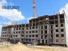 Ход строительства дома № 25 в ЖК Новая Кузнечиха - фото 5, Июль 2021