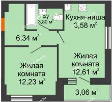 1 комнатная квартира 41,62 м² - ЖК Олимпийский