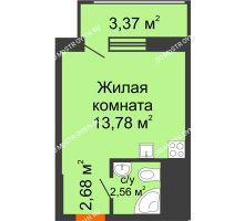 Студия 22,39 м² в ЖК Москва Град, дом 60/3 - планировка