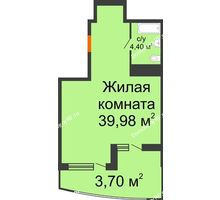 Студия 48,08 м² в ЖК Элегант, дом Литер 11 - планировка