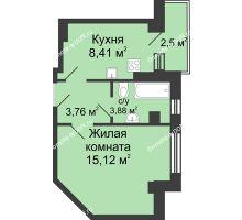 1 комнатная квартира 32,42 м² в ЖК Сердце Ростова, дом Этап II
