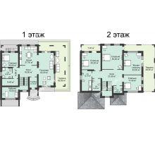 """7 комнатная квартира 333,4 м² в КП Вишневый сад, дом Усадьба """"Дворянское гнездо"""" - планировка"""