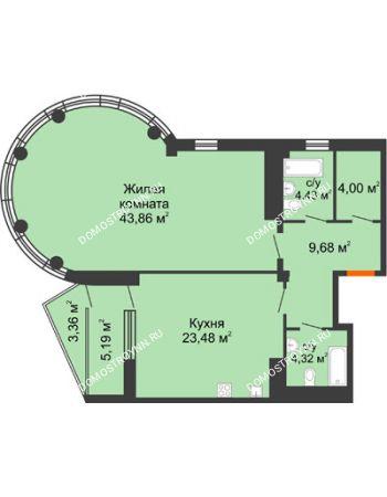 1 комнатная квартира 93,29 м² в ЖК Renaissance (Ренессанс), дом № 1