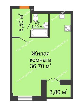 Студия 47,9 м² - ЖК Дом на 18-й Линии, 3