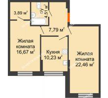 2 комнатная квартира 65,54 м² - Дом на Чаадаева