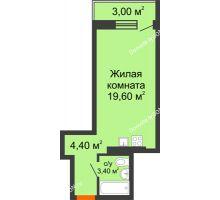 Студия 30,4 м² в ЖК На Тимошенко, дом № 1 - планировка